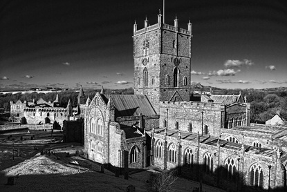 St Davids Cathedral Monochrome
