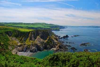 Picture of Penrhyn Erw-goch and Fishguard Bay, Pembrokeshire.